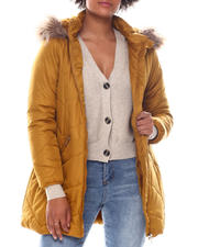 Fashion Lab - Puffer W/ Faux Fur Lining/Faux fur hood-2573225