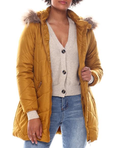 Fashion Lab - Puffer W/ Faux Fur Lining/Faux fur hood
