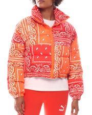 Outerwear - Paisley Crop Puffer-2573991