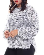 Fashion Lab - Plus Long Sleeve Crew Neck W/Balloon Sleeve-2574730