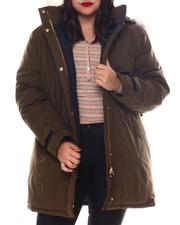 Fashion Lab - Plus Anorak Jacket W/Faux Fur Hoodie-2572292