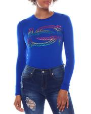Bebe - Long Sleeve Screen Print T-Shirt-2573607