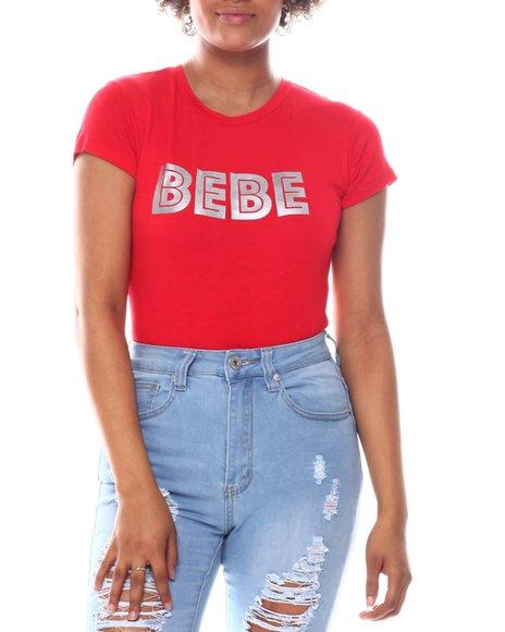 Bebe - Printed Crew Tee
