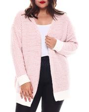 Fashion Lab - Plus Long Sleeve Open Front Cardigan-2574734