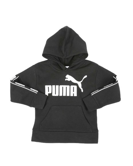 Puma - Amplified Pack Fleece Pullover Hoodie (4-7)