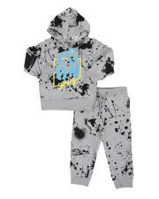 Boys - 2 Pc All Over Paint Splatter Fleece Hoodie & Jogger Pants Set (2T-4T)-2572384