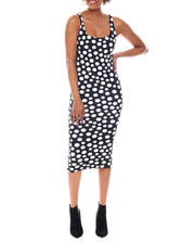 Dresses - Sleeveless Polka Dot Midi Dress-2573821