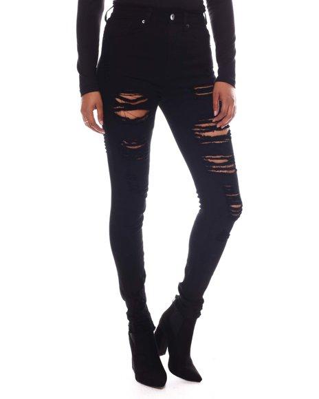 Fashion Lab - High Waist Ripped Jeans