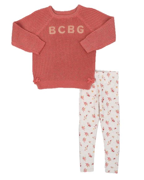 BCBGirls - 2 Pc Lurex Sweater Tunic & Printed Legging Set (4-6X))
