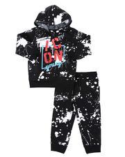 Boys - 2 Pc All Over Paint Splatter Fleece Hoodie & Jogger Pants Set (2T-4T)-2568337