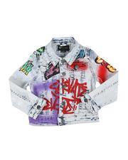 Boys - Graffiti Print Denim Jacket (2-7)-2568355