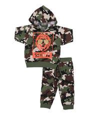 Boys - 2 Pc Savage Lion Camo Fleece Hoodie & Jogger Pants Set (Infant)-2572321