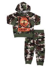 Boys - 2 Pc Savage Lion Camo Fleece Hoodie & Jogger Pants Set (2T-4T)-2572353