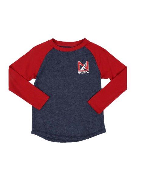 Nautica - Old School Long Sleeve Raglan Tee (4-7)