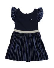 Nautica - Pleated Velour Combo Dress (2T-4T)-2572257