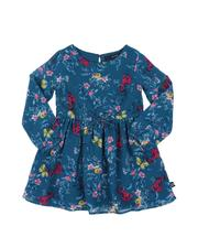 Nautica - Floral Chiffon Long Sleeve Dress (2T-4T)-2572262
