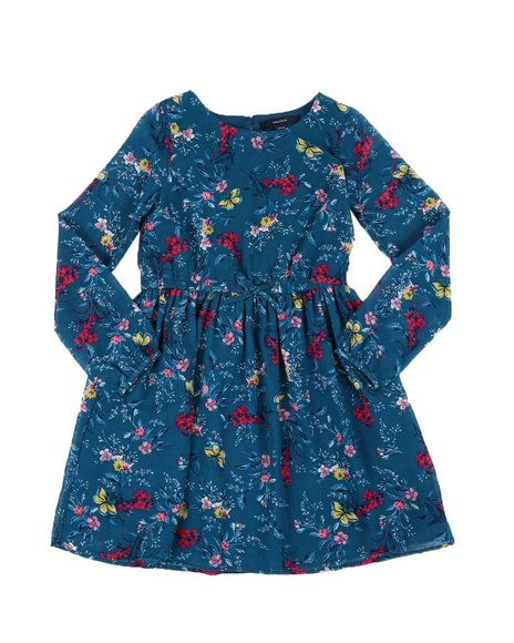 Nautica - Floral Chiffon Long Sleeve Dress (7-16)