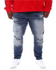 Jordan Craig - Washed Rip Knee Denim Jeans (B&T)-2573985