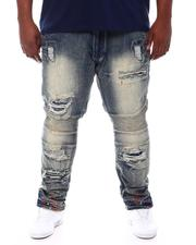 Makobi - Distressed Paint Splatter Jeans (B&T)-2561821