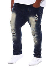 Big & Tall Faves - Malachy Plaid Patches Jeans (B&T)-2573374