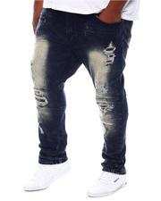 Makobi - Malachy Plaid Patches Jeans (B&T)-2573374