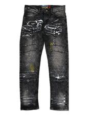 Bottoms - Cut & Sew Distressed Jeans (8-16)-2574619