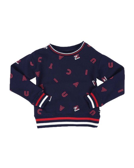 Nautica - All Over Print Fleece Crewneck Pullover (7-16)
