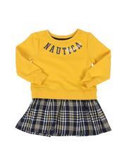 Dresses - Combo Dress W/ Plaid Skirt (2T-4T)-2572212