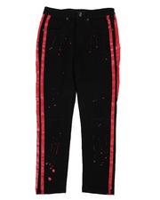 Jeans - Rip & Repair Stretch Jeans W/ Paint Splatter & Side Stripes (8-18)-2574612