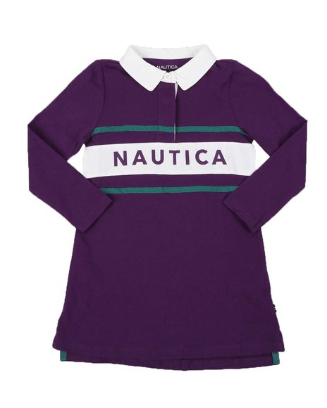 Nautica - Rugby Dress W/ Across Chest Logo (4-6X)