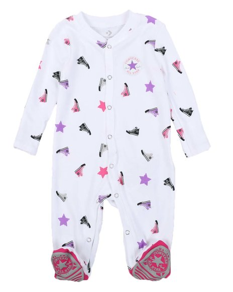 Converse - AOP Sneaker Footed Coverall (0-9Mo)