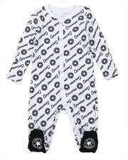 One Pieces - AOP Script Footed Coverall (0-9Mo)-2575044