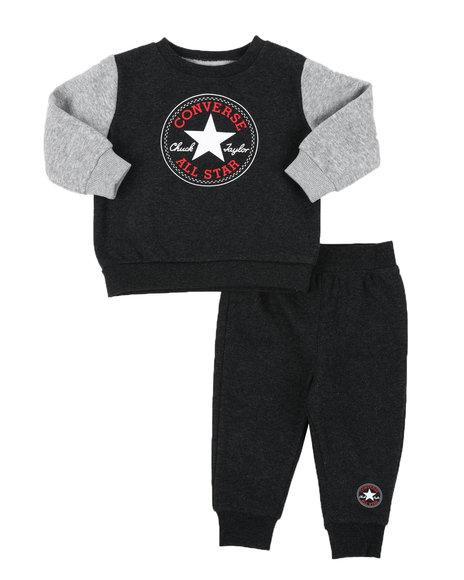 Converse - 2 Pc Color Block Crew Neck Pullover & Jogger Pants Set (Infant)