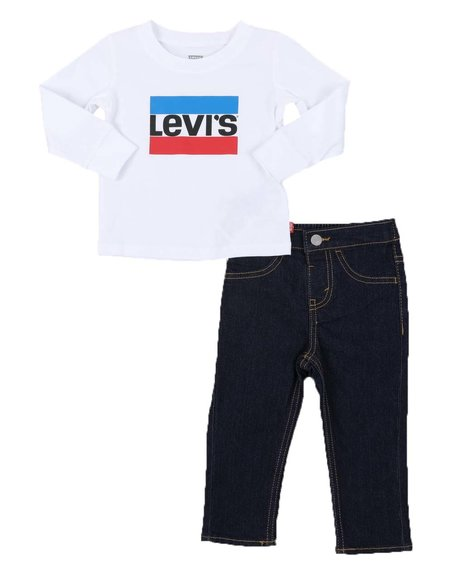 Levi's - 2 Pc Long Sleeve Tee & Jeans Set (Infant)