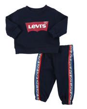 Levi's - 2 Pc Crew Neck Pullover & Jogger Pants Set (Infant)-2575301