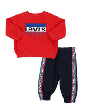 Levi's - 2 Pc Crew Neck Pullover & Jogger Pants Set (Infant)-2575305