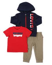 Levi's - 3 Pc Zip Up Hoodie, Tee & Pants Set (Infant)-2575309