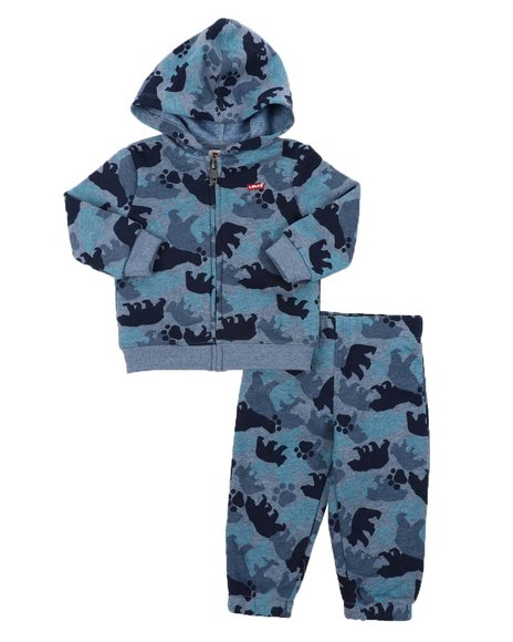 Levi's - 2 Pc Allover Print Hoodie & Jogger Pants Set (Infant)