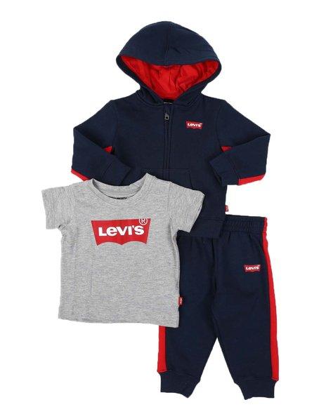 Levi's - 3 Pc Batwing Logo Hoodie, Tee & Jogger Pants Set (Infant)