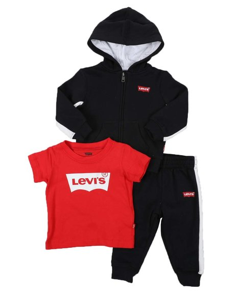 Levi's - 3 Pc Batwing Logo Hoodie, Tee & Jogger Pants Set (Infant)