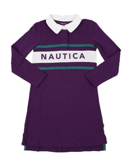 Nautica - Rugby Dress W/ Across Chest Logo (7-16)