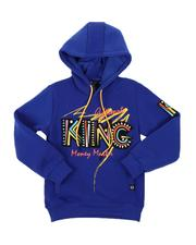 Hoodies - King Embroidered Patch Pullover Hoodie (8-20)-2574562
