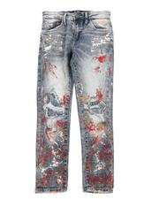 Bottoms - Ripped Paint Splatter Jeans (8-16)-2575941