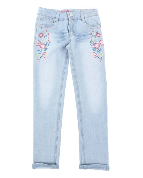Delia's Girl - Floral Patch Skinny Jeans (7-16)