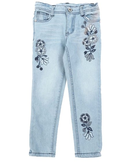 Dollhouse - Floral Embroidery Skinny Jeans (4-6X)