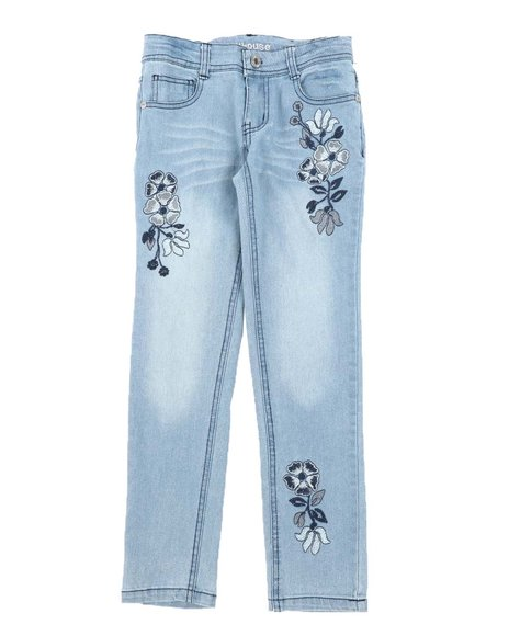 Dollhouse - Floral Embroidery Skinny Jeans (7-16)