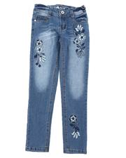 Girls - Floral Embroidery Skinny Jeans (7-16)-2576076