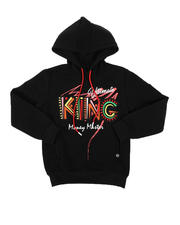 Hoodies - King Embroidered Patch Pullover Hoodie (8-20)-2574557