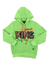 Hoodies - King Embroidered Patch Pullover Hoodie (8-20)-2574567