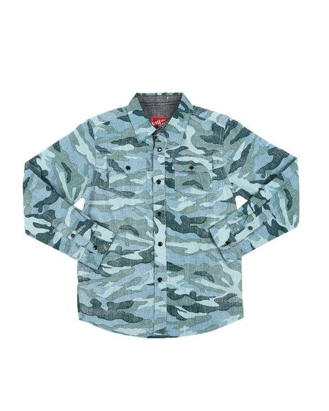 Arcade Styles - Camo Button-Down Shirt (6-20)